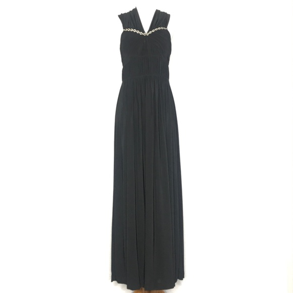 Max & Cleo Dresses & Skirts - Max & Cleo Black Ruched Formal Gown A200810